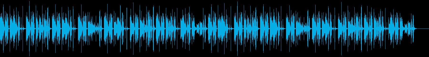 考え事をしている時のBGMの再生済みの波形