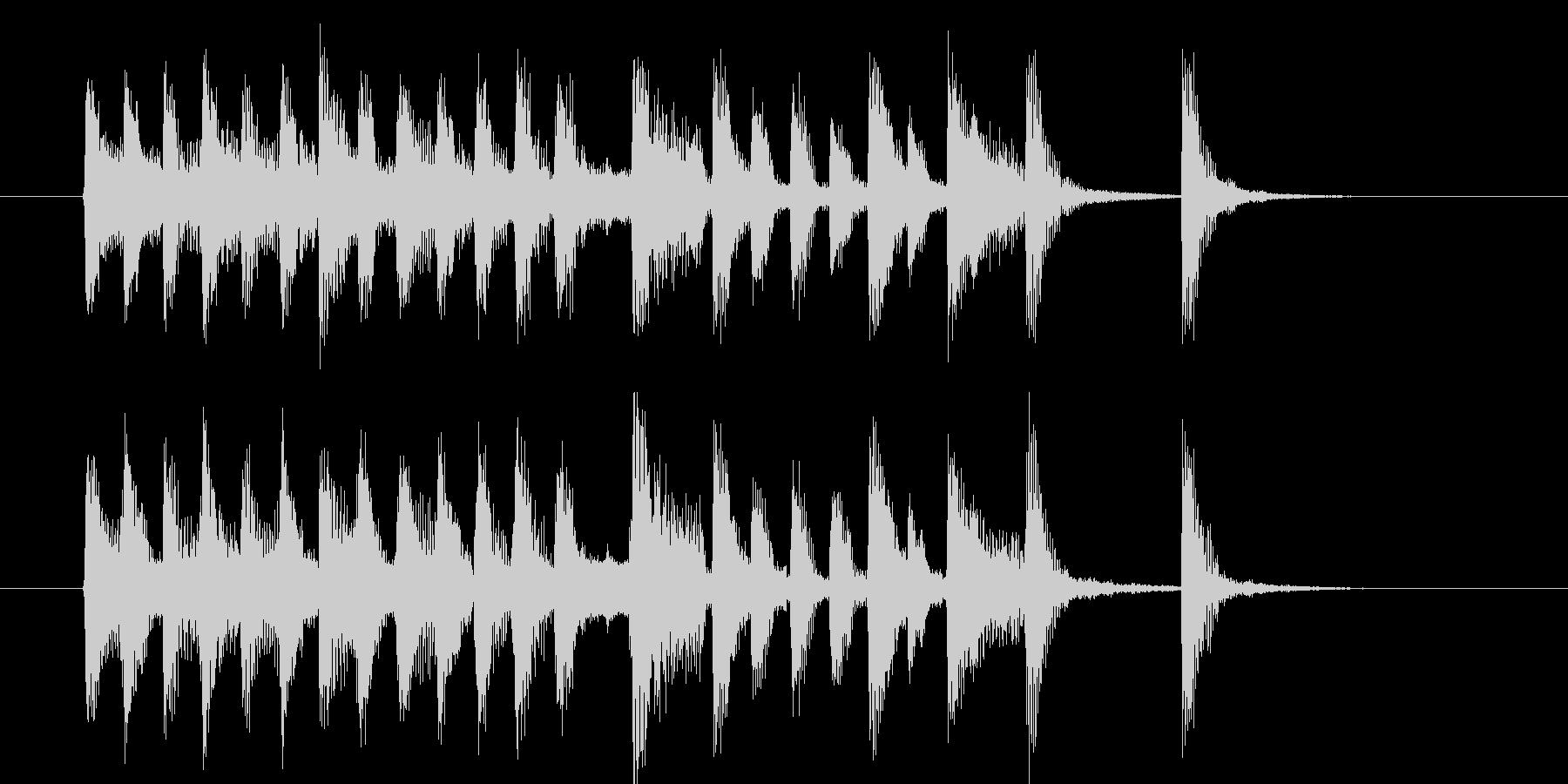 可憐でキャッチ―なポップピアノジングルの未再生の波形
