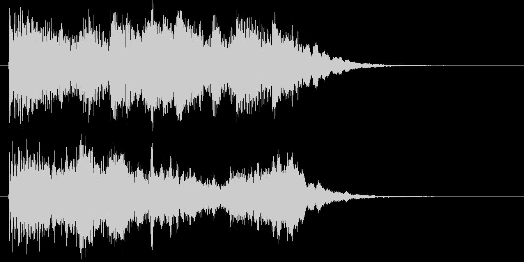 宇宙的で不思議な雰囲気のサウンドロゴの未再生の波形