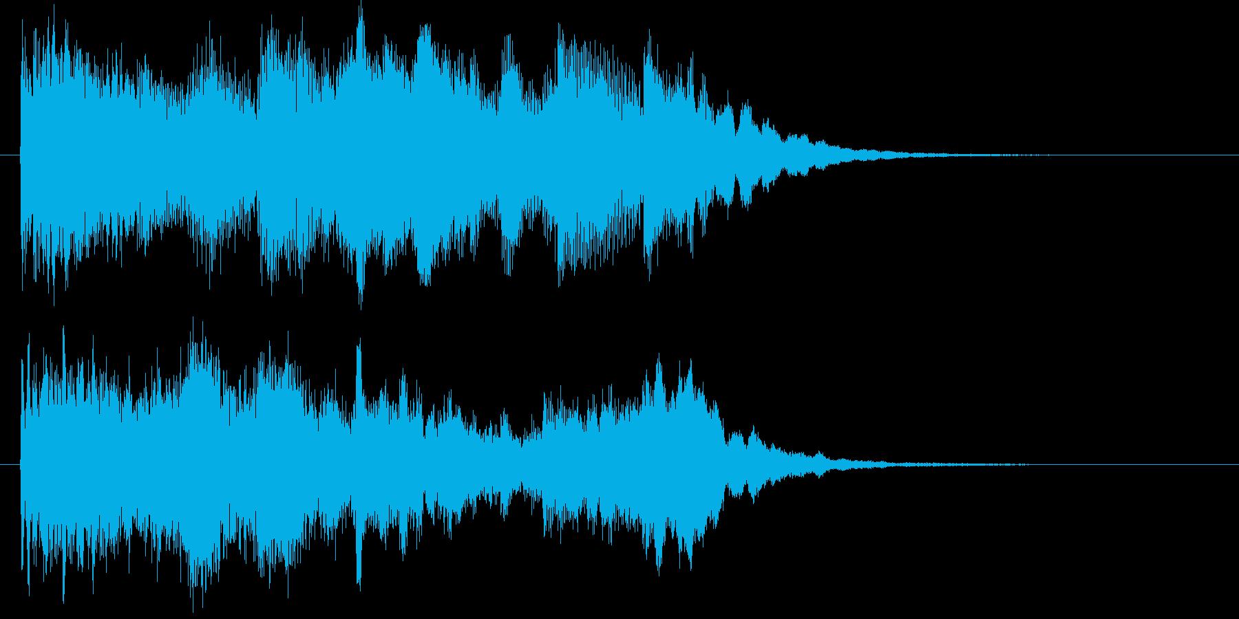 宇宙的で不思議な雰囲気のサウンドロゴの再生済みの波形