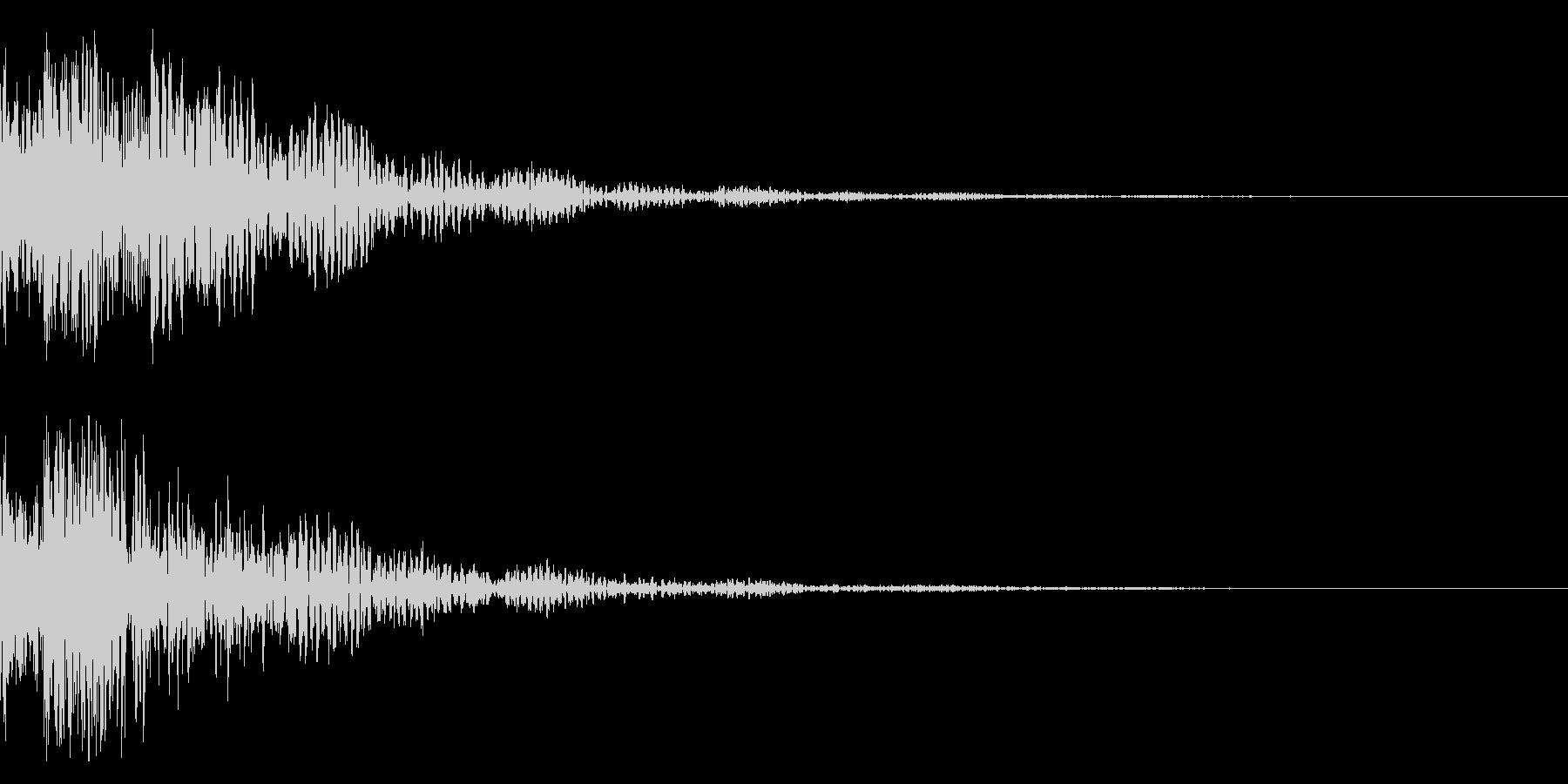 ドドン!太鼓と鼓 拍子木のインパクト!3の未再生の波形