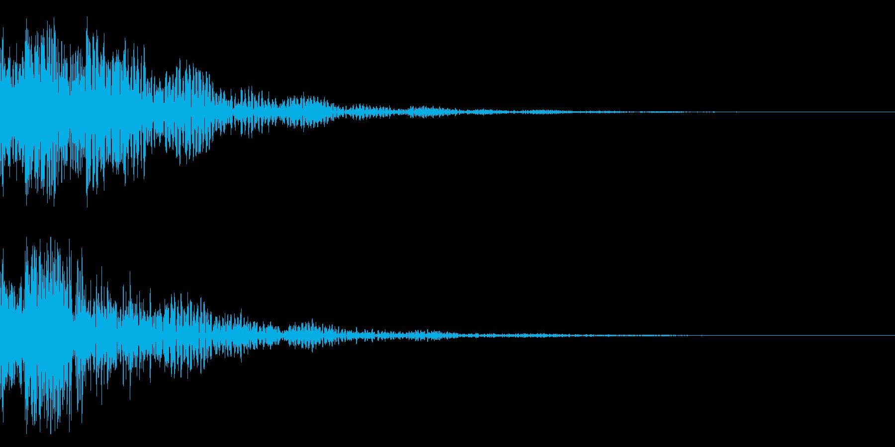 ドドン!太鼓と鼓 拍子木のインパクト!3の再生済みの波形