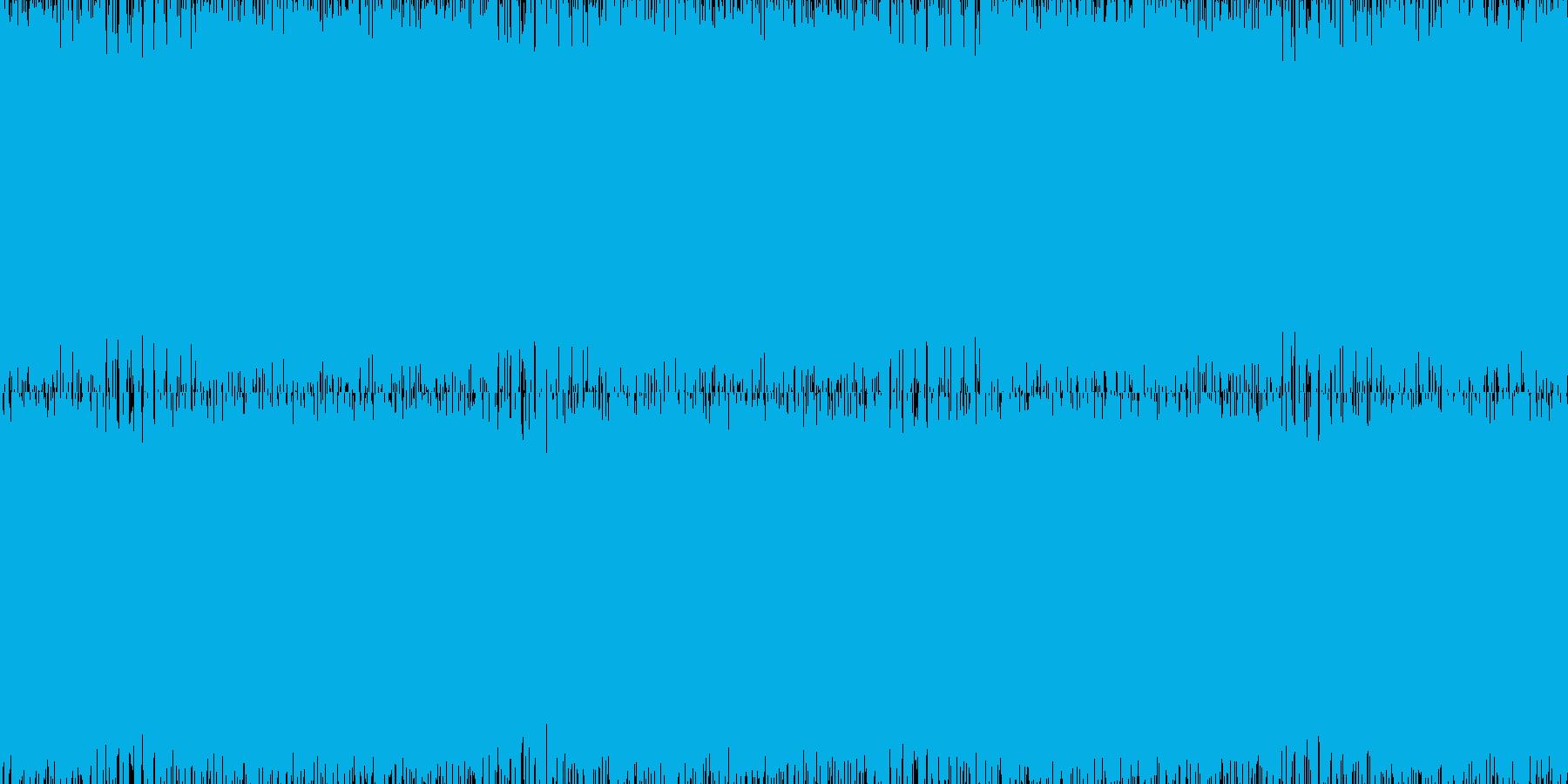 疾走感のあるパンキッシュロックの再生済みの波形