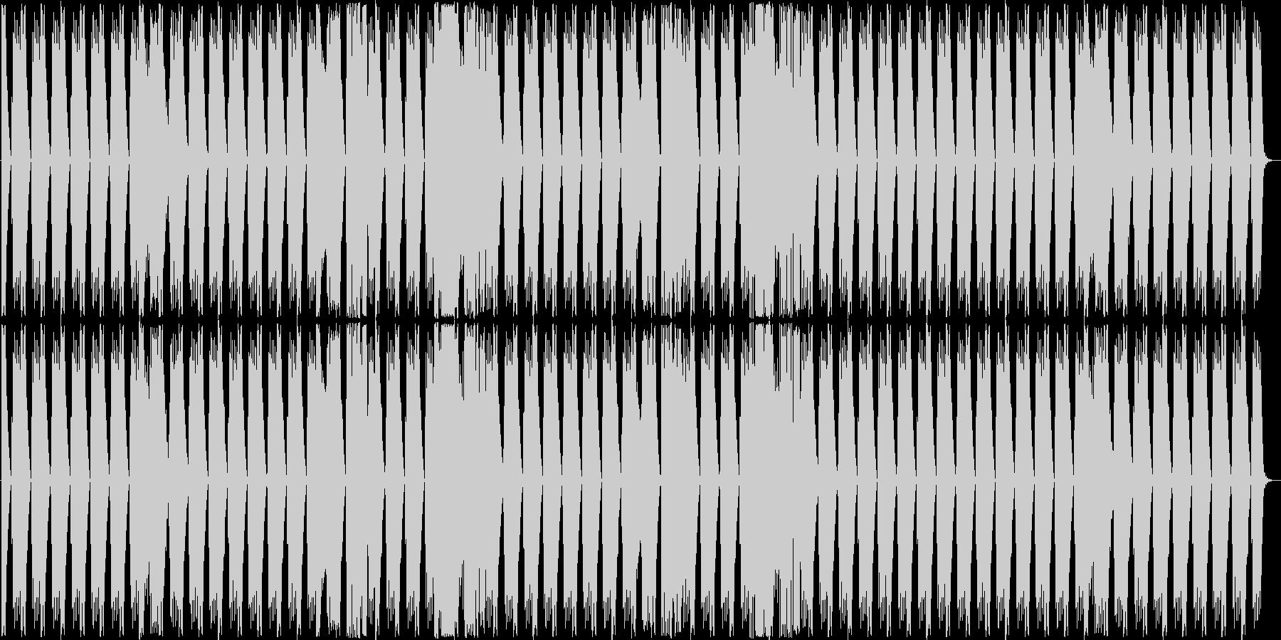 殆どリズムだけの短い曲ですの未再生の波形