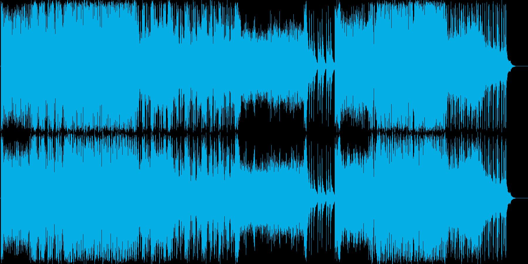 綺麗な柔らかめでEDM要素有りのBGMの再生済みの波形