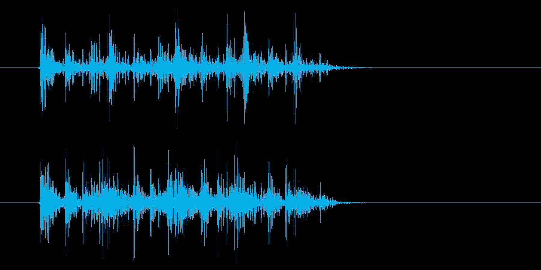 激しくミステリアスなテクノ音楽の再生済みの波形