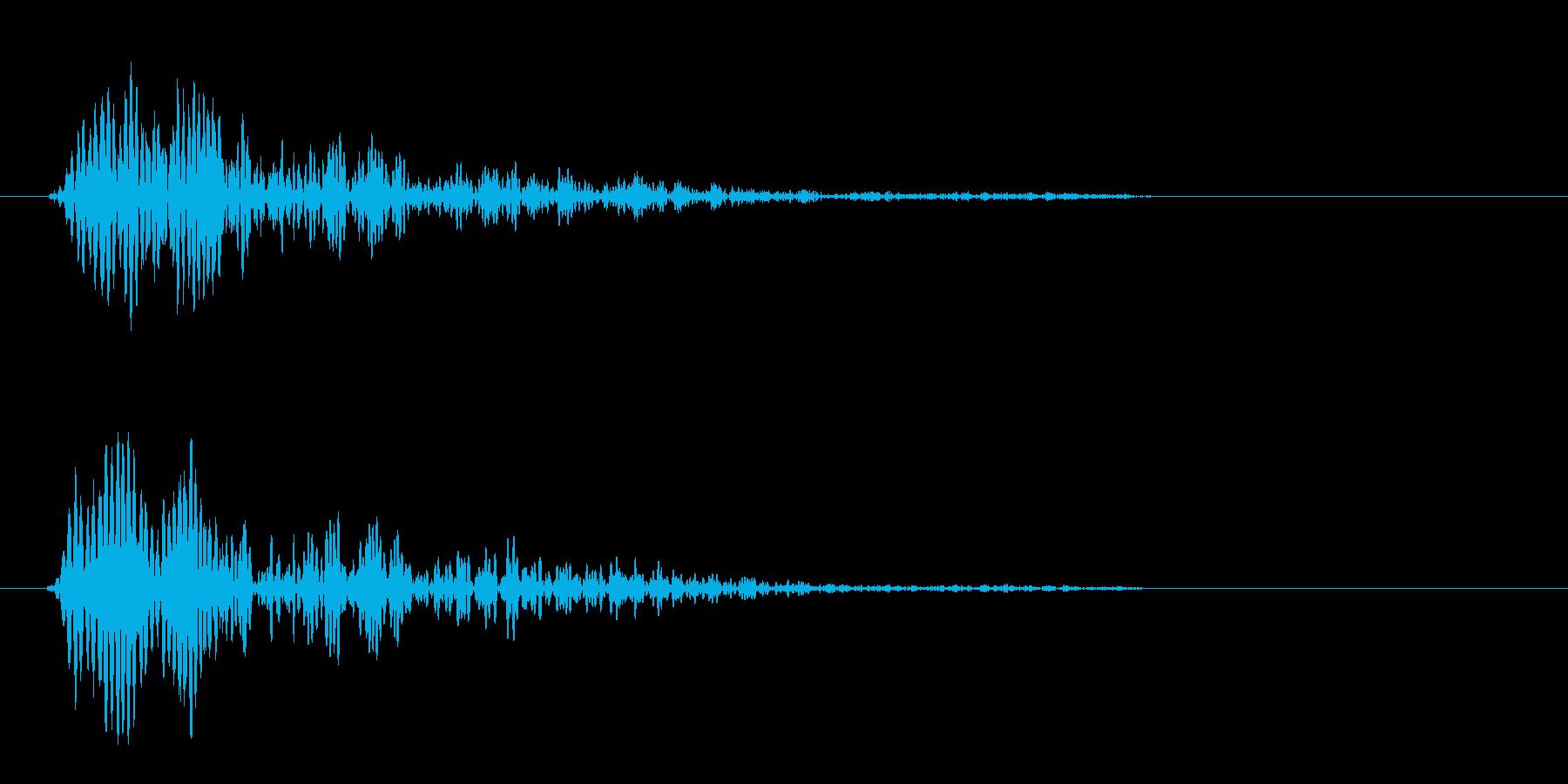 ピヨン(軽快なジャンプ音)の再生済みの波形