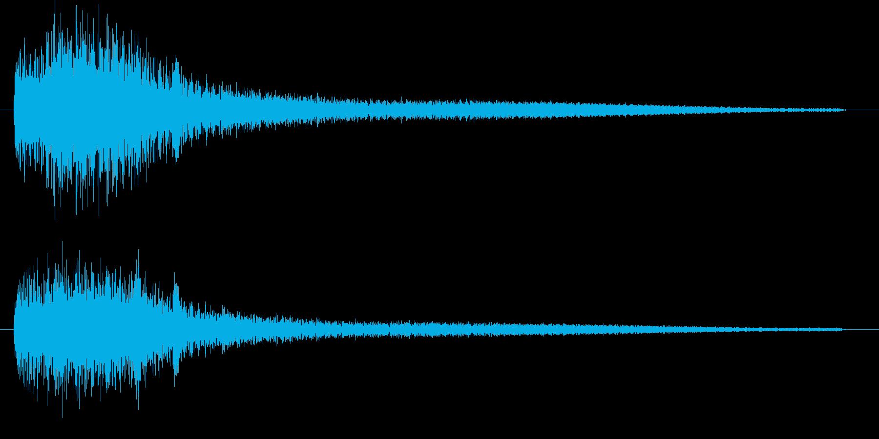 ブラックな音 波紋のような音 ピアノ音の再生済みの波形