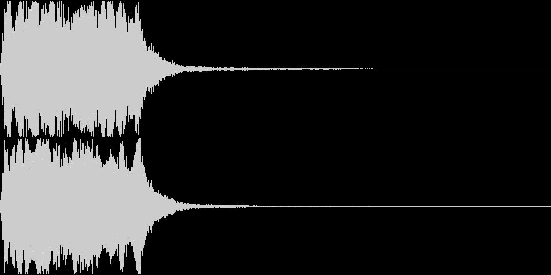 ラッパ ファンファーレ 定番 6の未再生の波形
