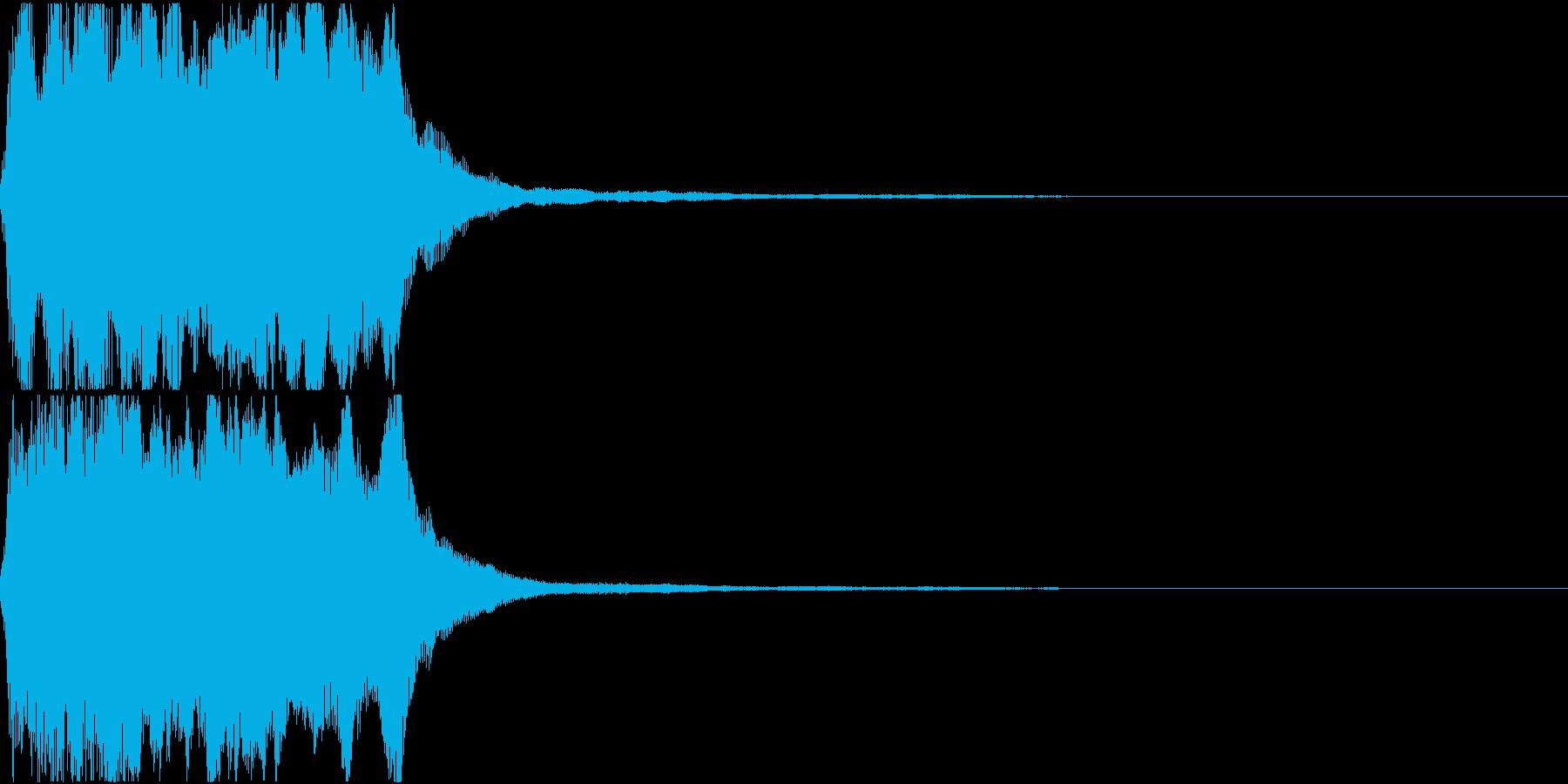 ラッパ ファンファーレ 定番 6の再生済みの波形