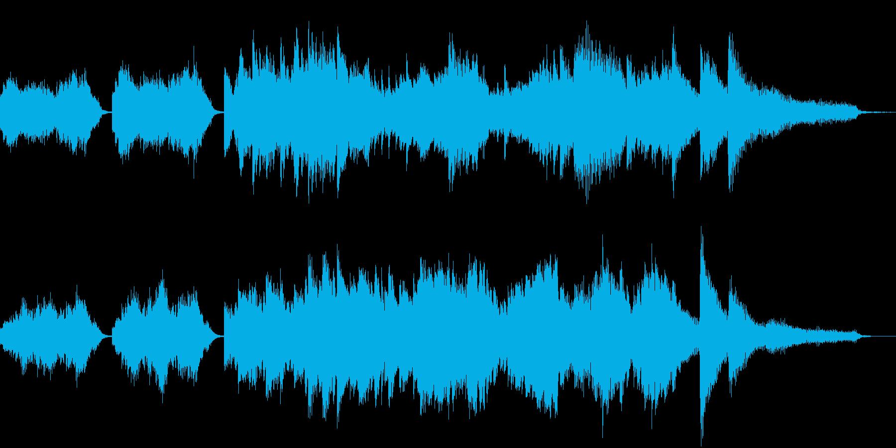 美しくロマンチックな短いピアノの曲の再生済みの波形