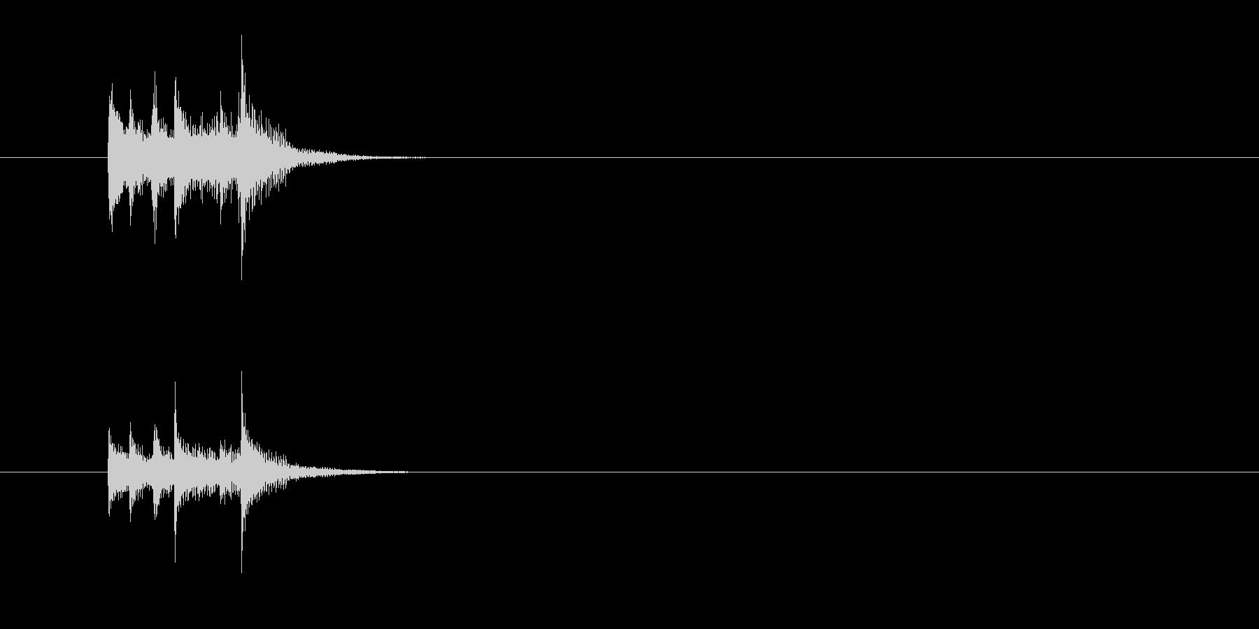 打楽器 木琴 マリンバ シンセサイザー の未再生の波形