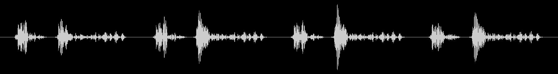 「ドクン!ドクン!」心臓心拍、鼓動音06の未再生の波形
