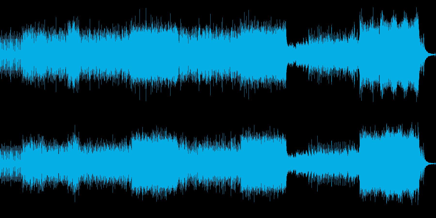 メロディアスなポップロックの再生済みの波形