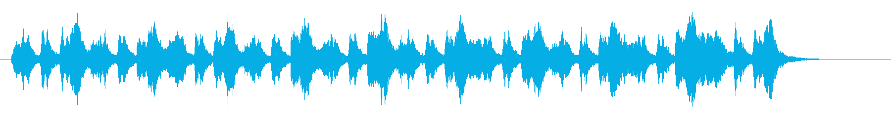 浮遊感のあるアナログ・シンセサウンドの再生済みの波形