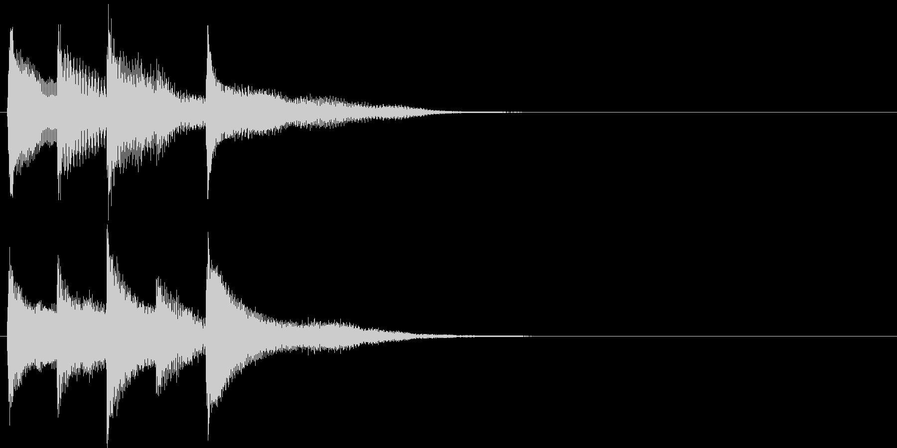 短いピアノ映像用ジングル9の未再生の波形