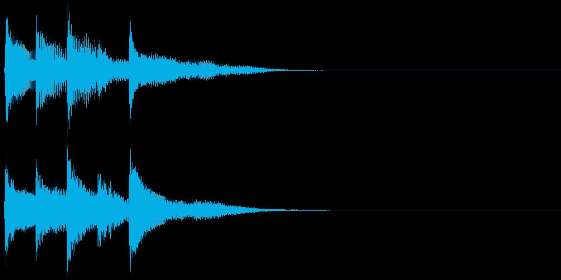 短いピアノ映像用ジングル9の再生済みの波形