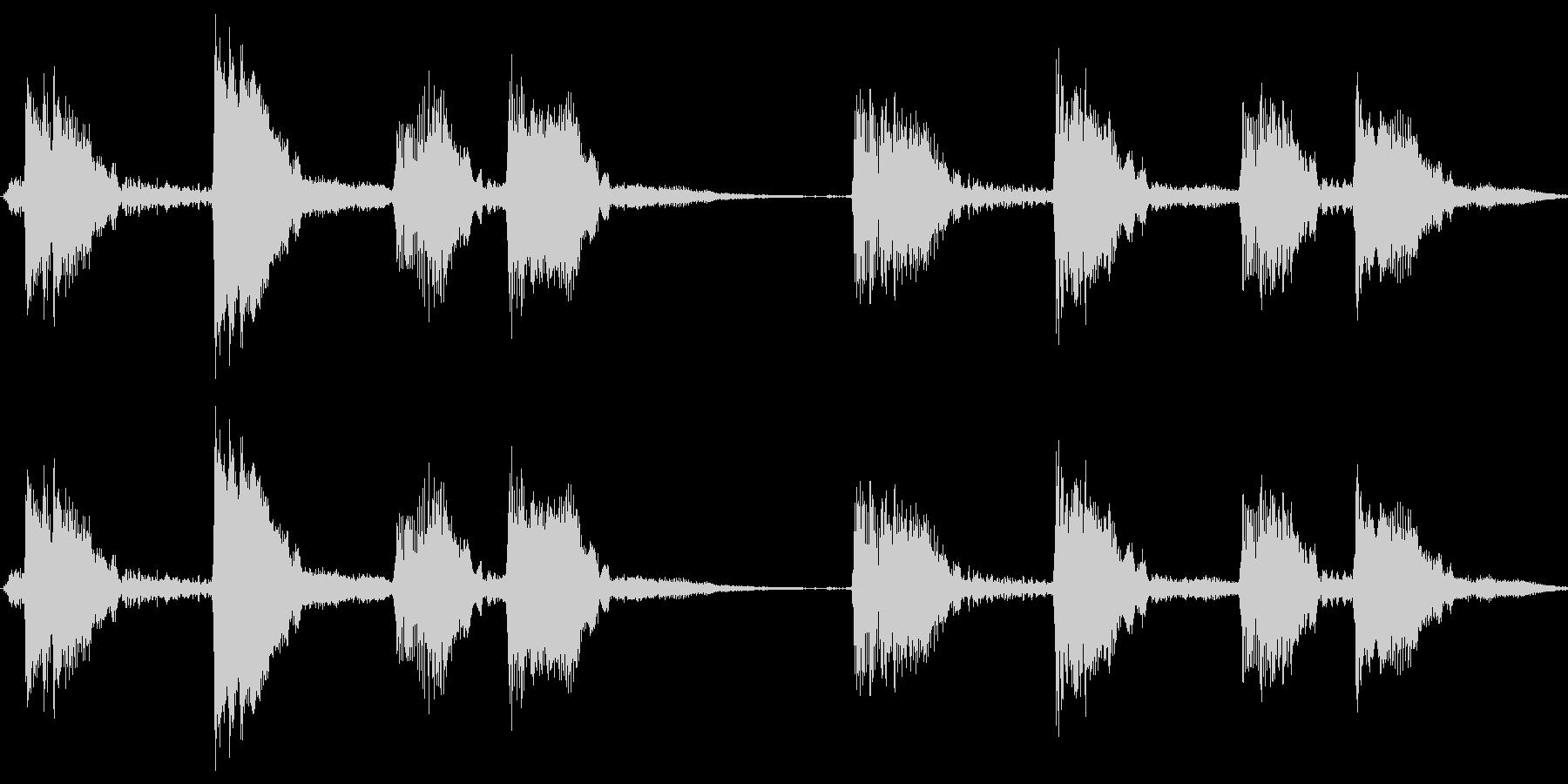 【エレキギター】ウッパ、ウパの未再生の波形
