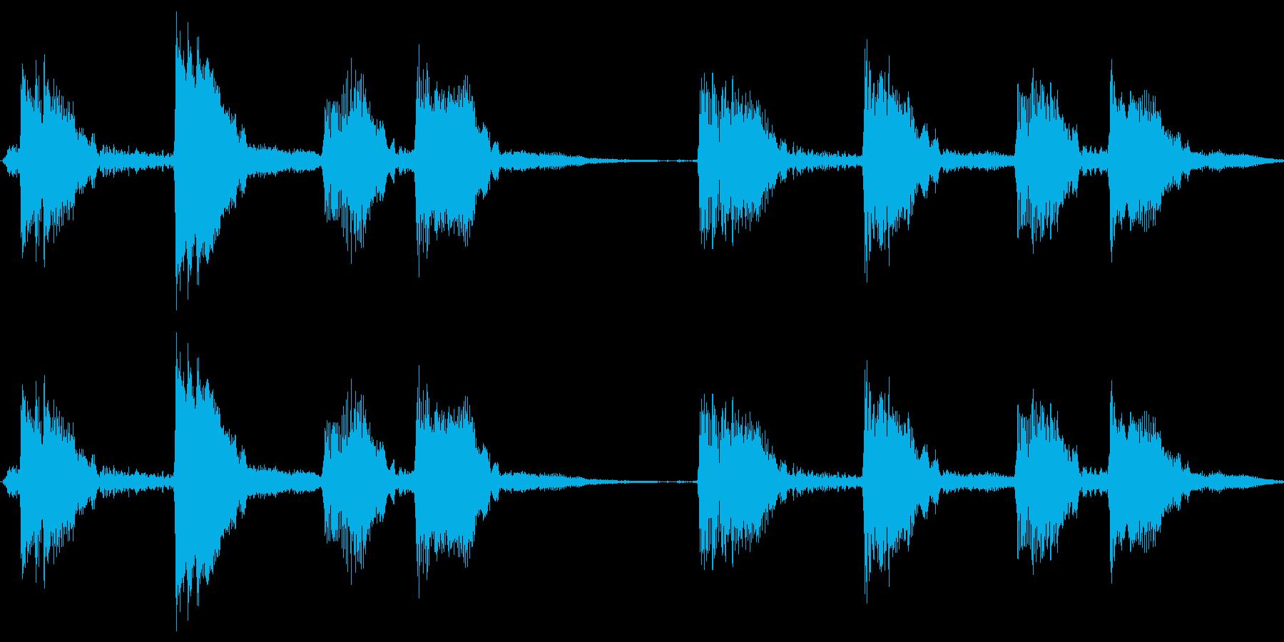 【エレキギター】ウッパ、ウパの再生済みの波形