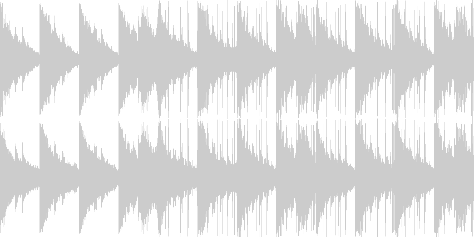 エレピ、シンセ等の切なく甘い曲の未再生の波形