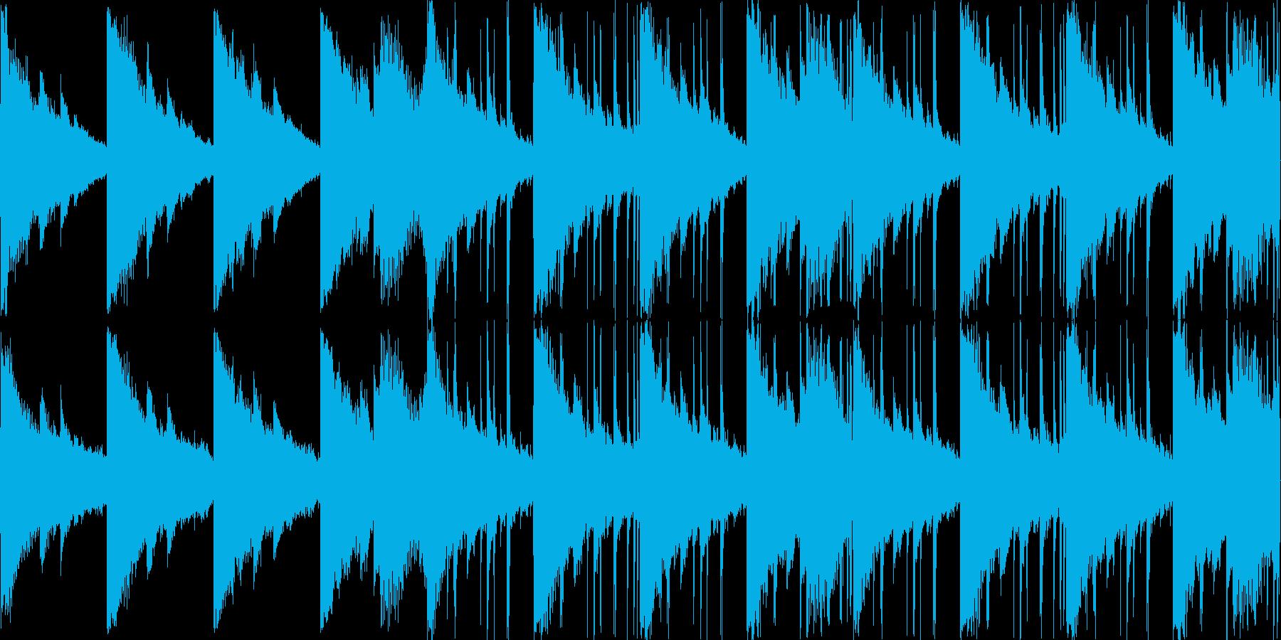 エレピ、シンセ等の切なく甘い曲の再生済みの波形