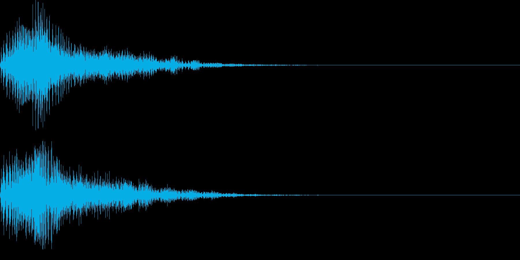柔らかく弾力性のある物を叩いた音_その2の再生済みの波形