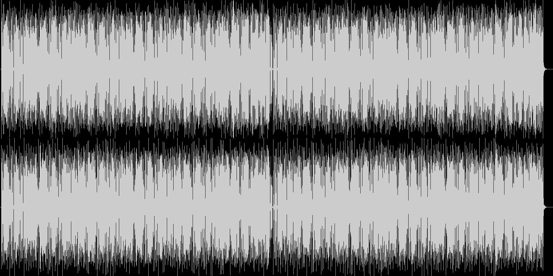 明るいテンポのシンセサイザー音の未再生の波形