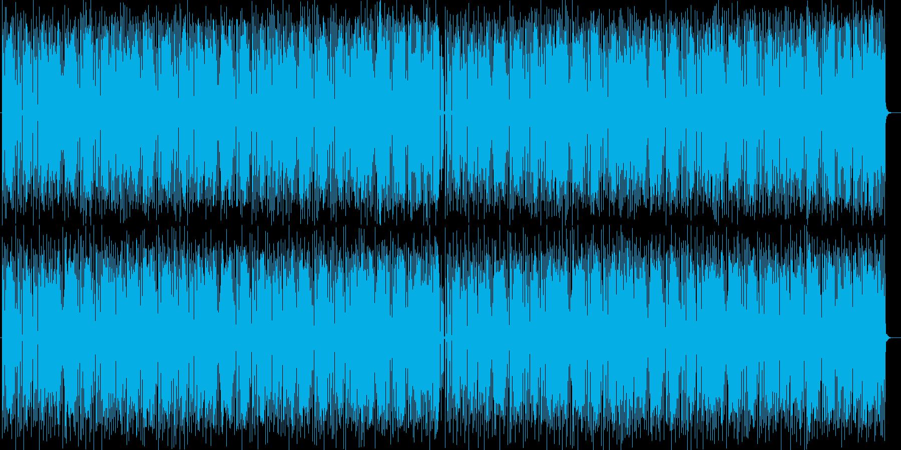 明るいテンポのシンセサイザー音の再生済みの波形
