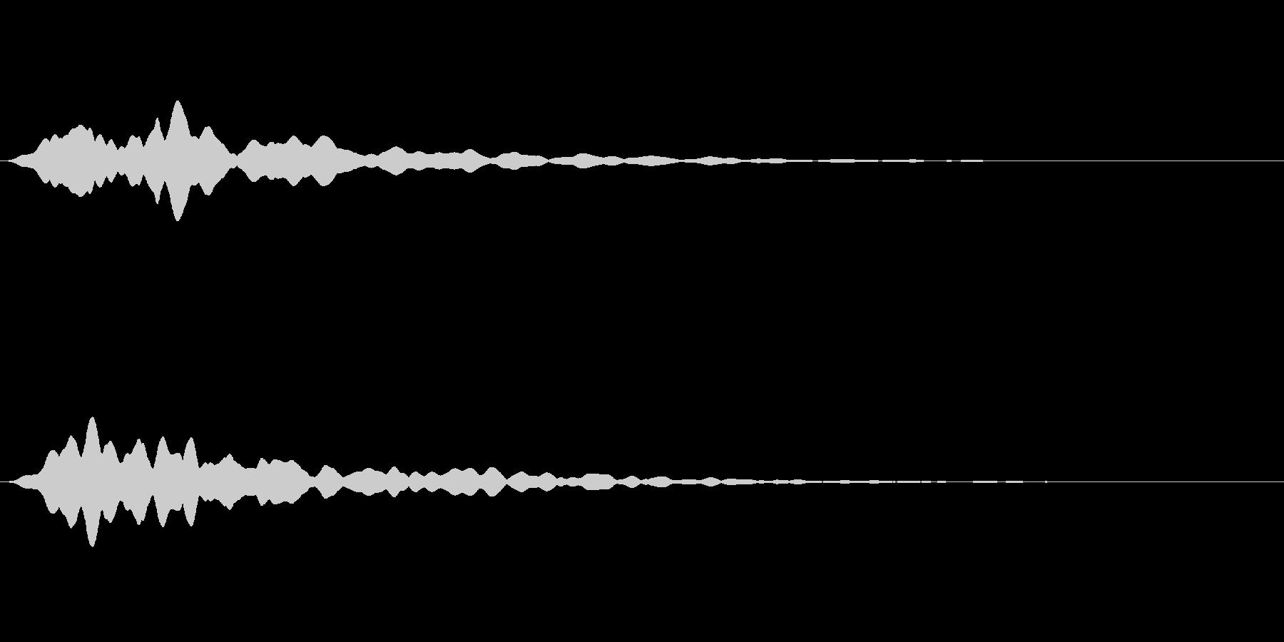 【パァー/ファー】シンセパッドの消失音の未再生の波形
