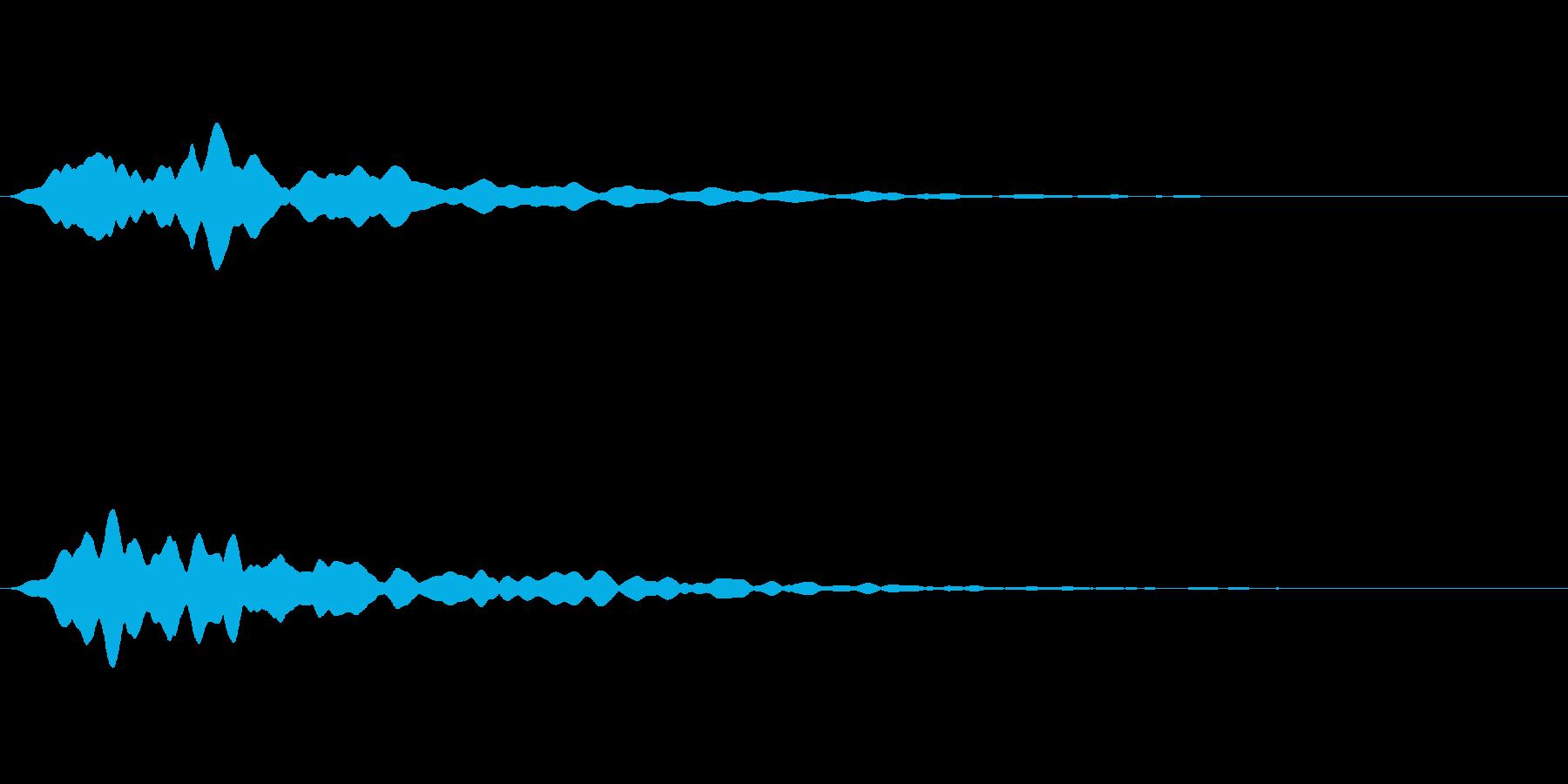 【パァー/ファー】シンセパッドの消失音の再生済みの波形