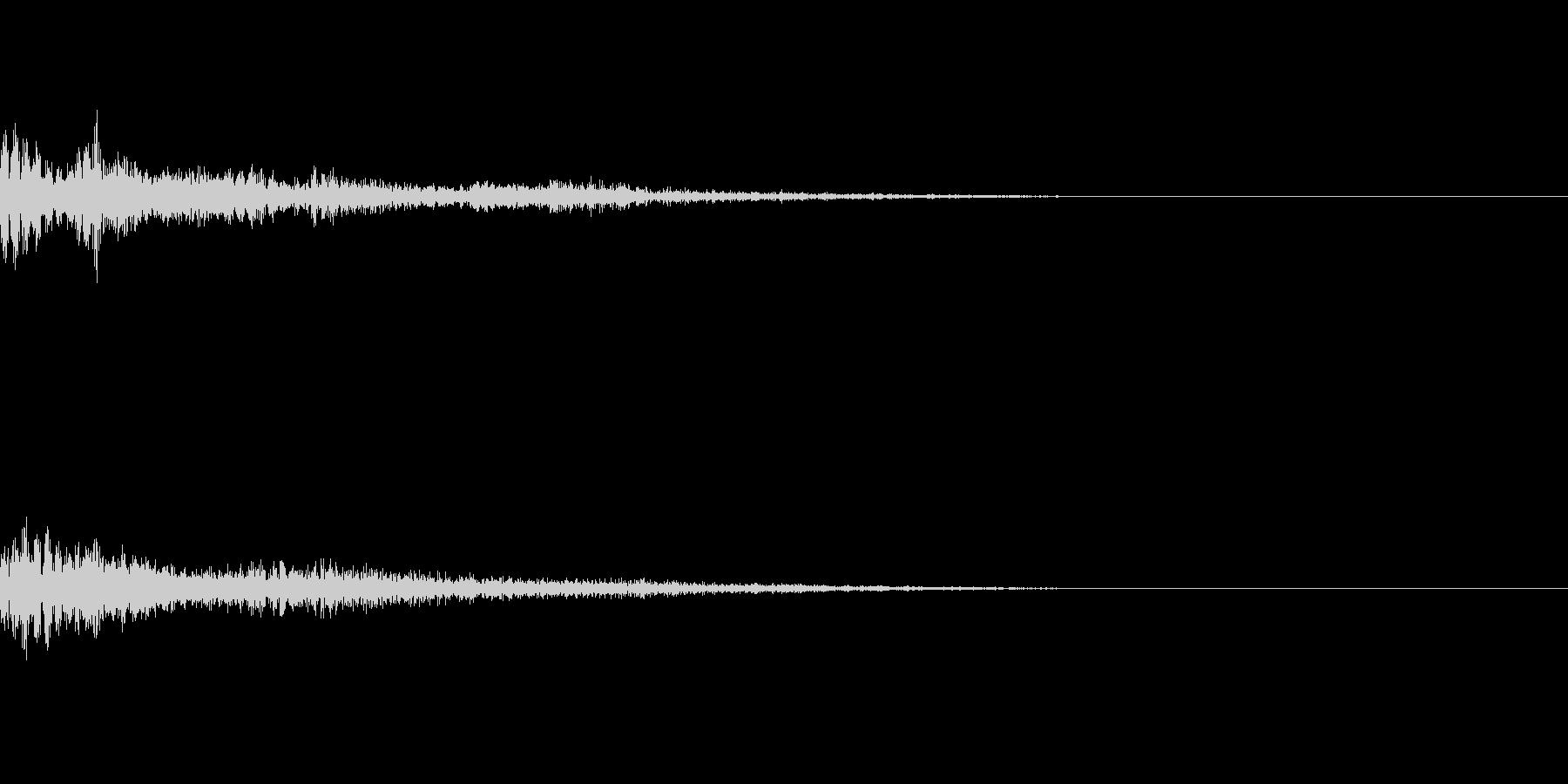 【Horror】戻る【カーソル】の未再生の波形