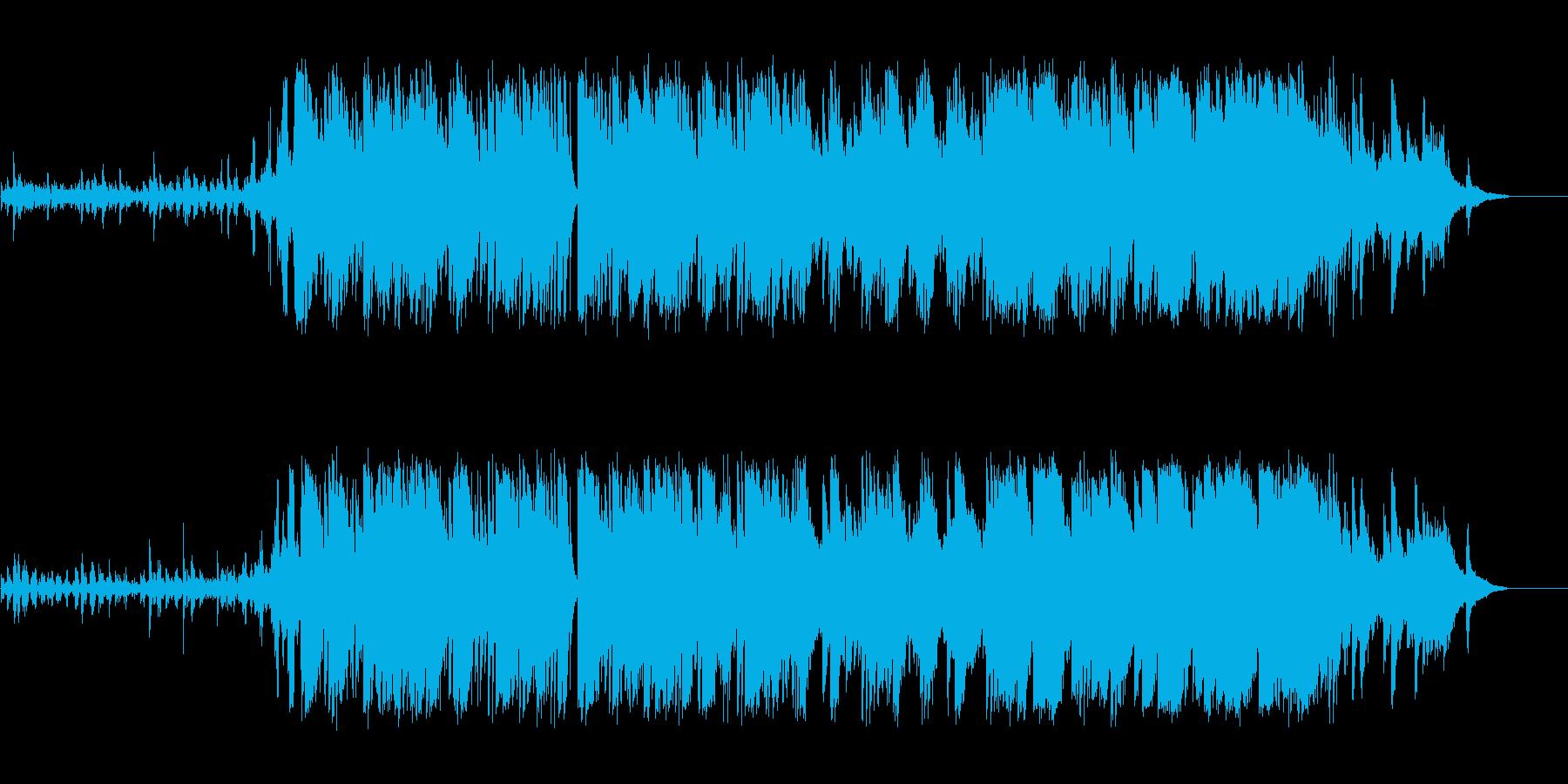 ミステリアス、ダークでかっこいいBGMの再生済みの波形