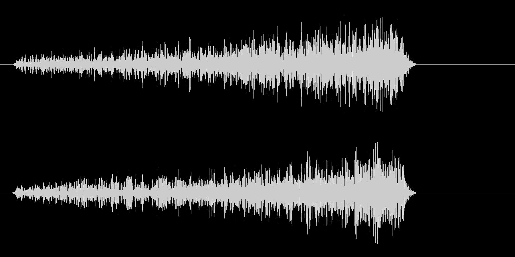 シューイッ(決定音、紙の摩擦音)の未再生の波形