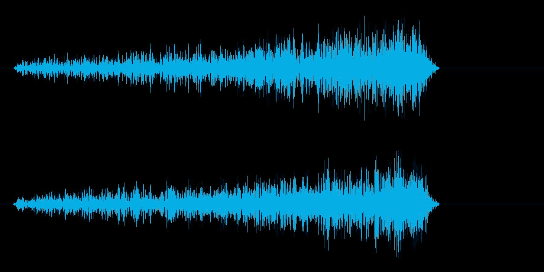 シューイッ(決定音、紙の摩擦音)の再生済みの波形
