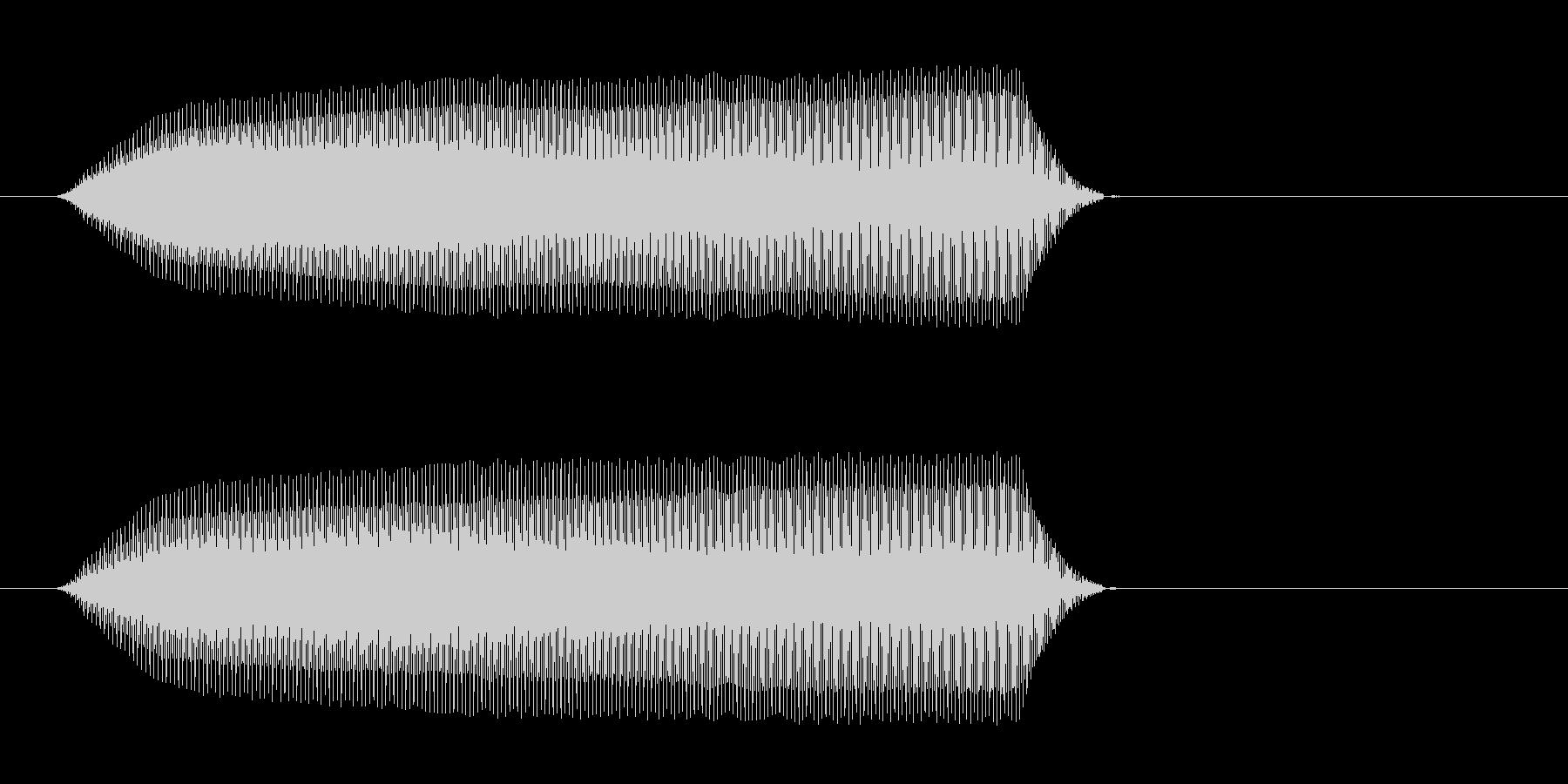 ピィィッ(鳥が鳴くような効果音)の未再生の波形