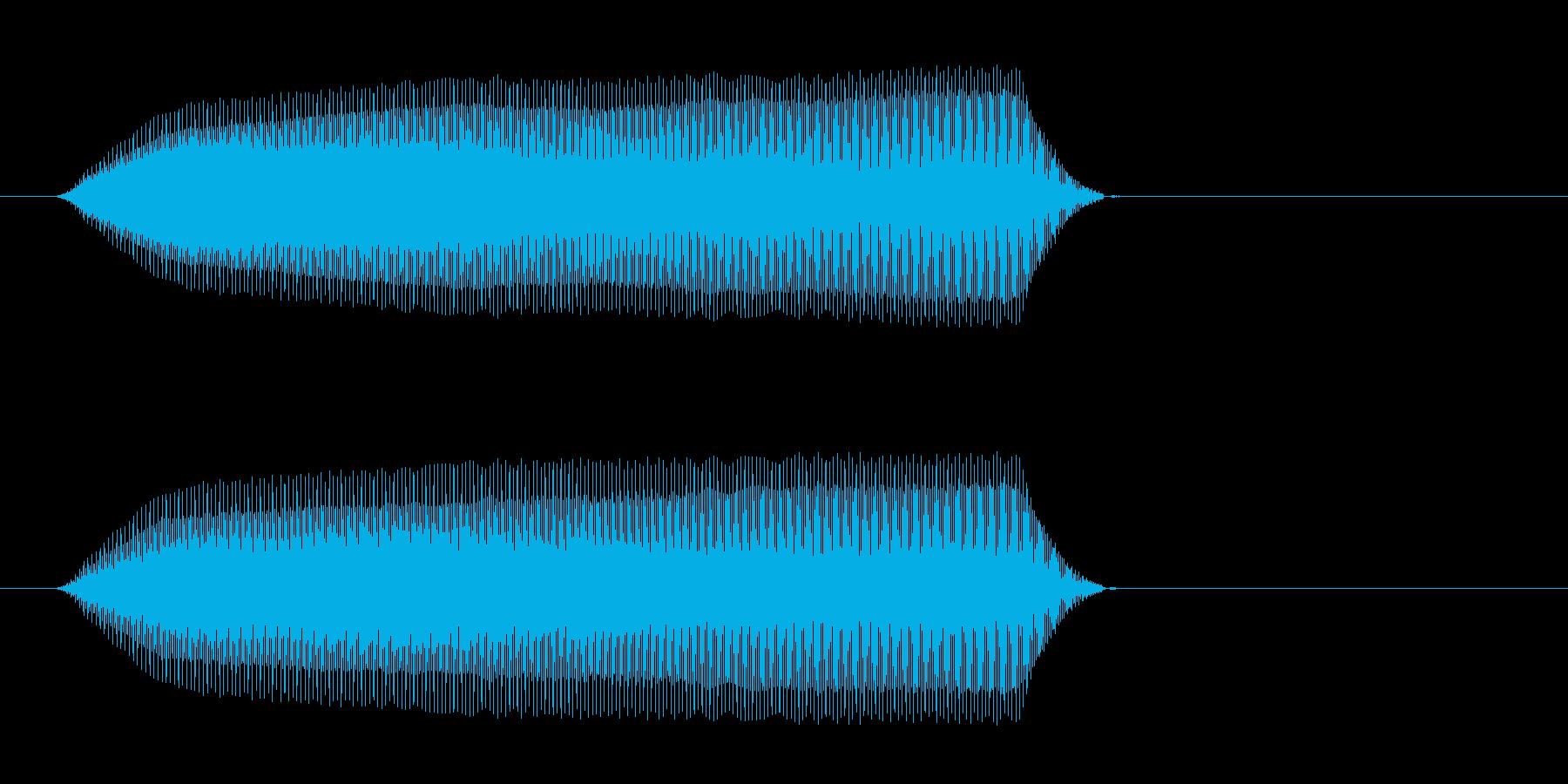 ピィィッ(鳥が鳴くような効果音)の再生済みの波形
