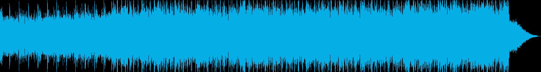 和風幻想曲で静かに始まり情熱的な曲への再生済みの波形