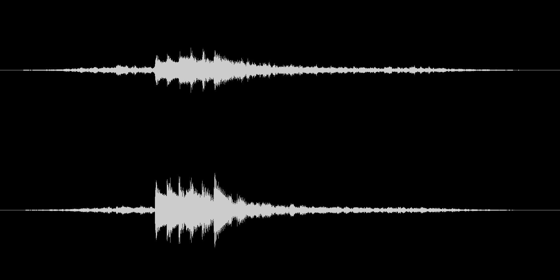 ホラー系 不吉な予感 SEの未再生の波形