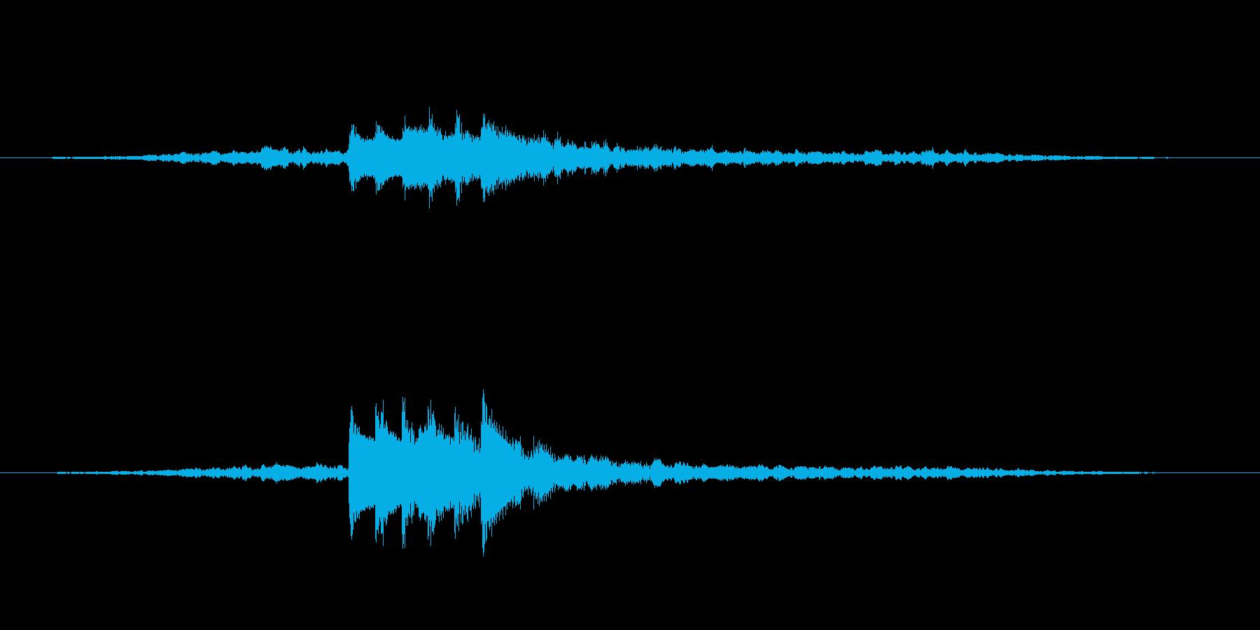 ホラー系 不吉な予感 SEの再生済みの波形
