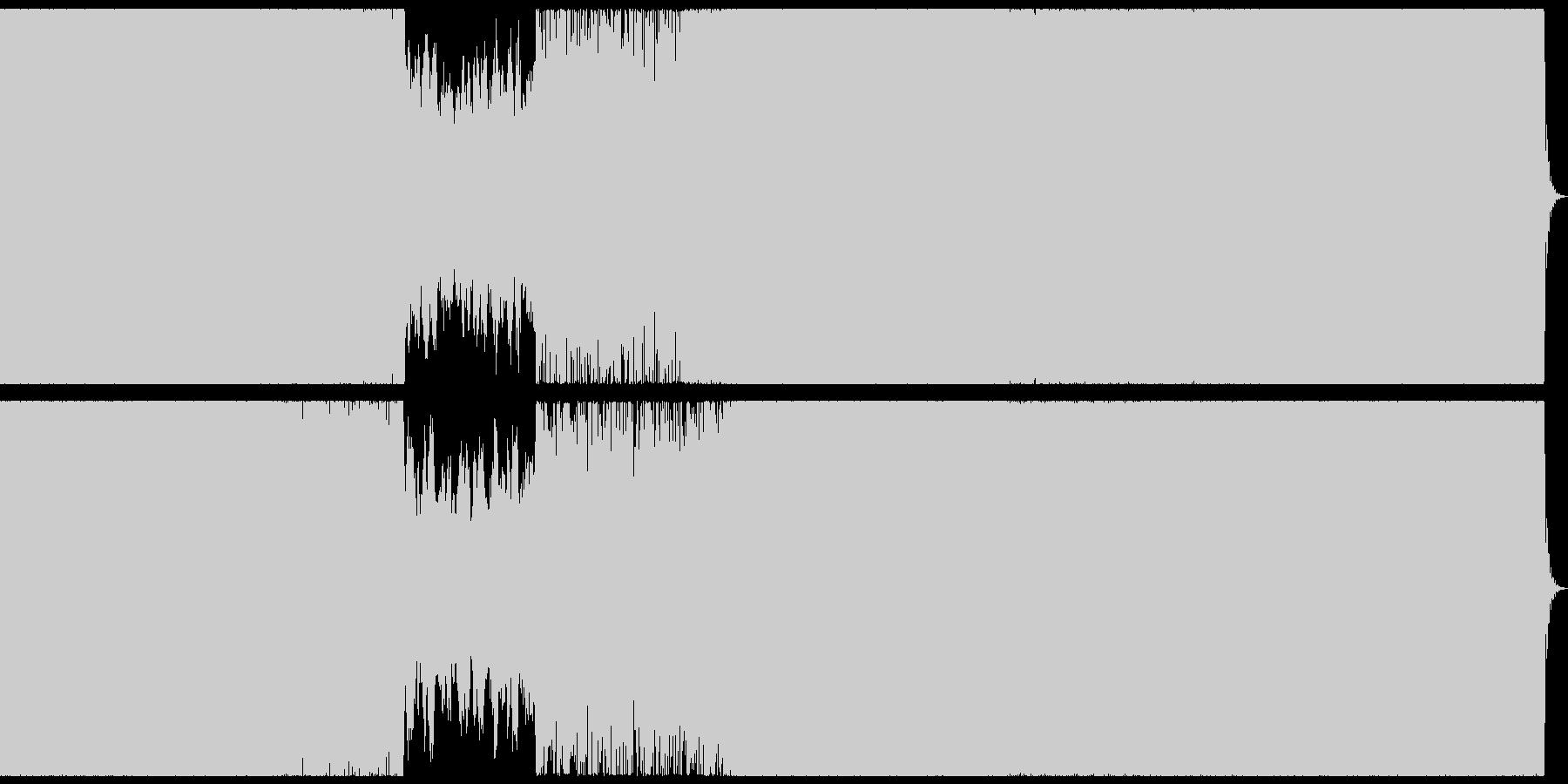 ダークで激しいトランス風戦闘系BGMの未再生の波形