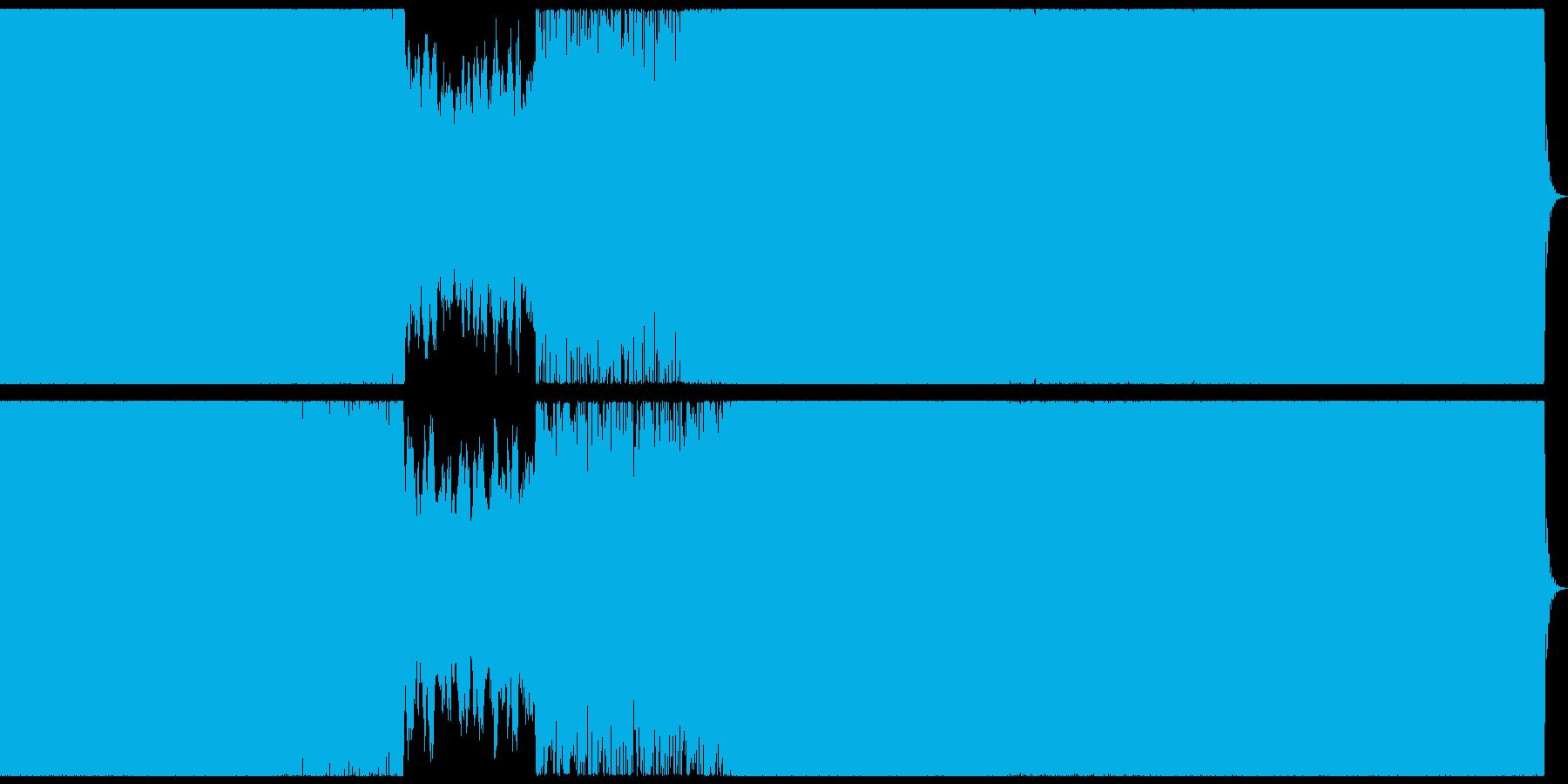 ダークで激しいトランス風戦闘系BGMの再生済みの波形