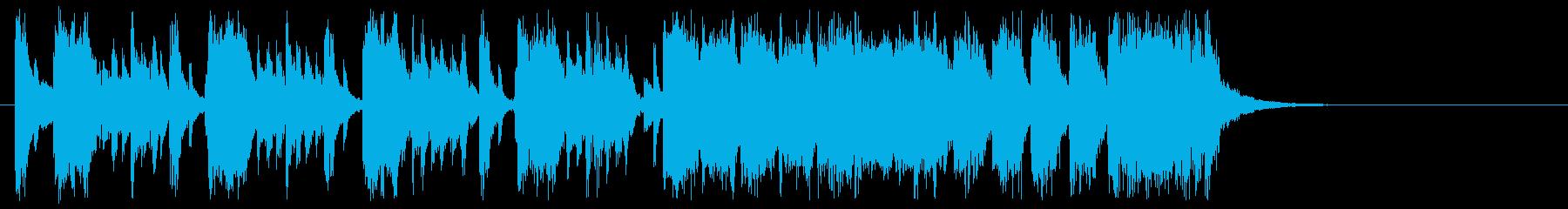 ミュージカル風ジャズファンクなジングルの再生済みの波形