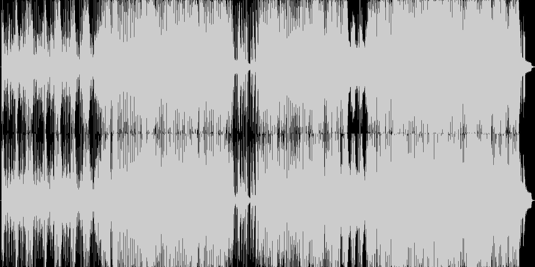 深夜の町を徘徊するようなイメージ曲の未再生の波形