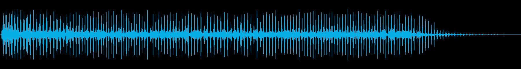 コミカル飛行音(長い音)の再生済みの波形