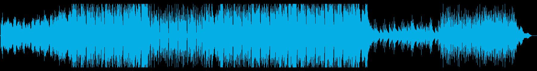 オーケストラ楽器を使ったエレクトロ風曲の再生済みの波形