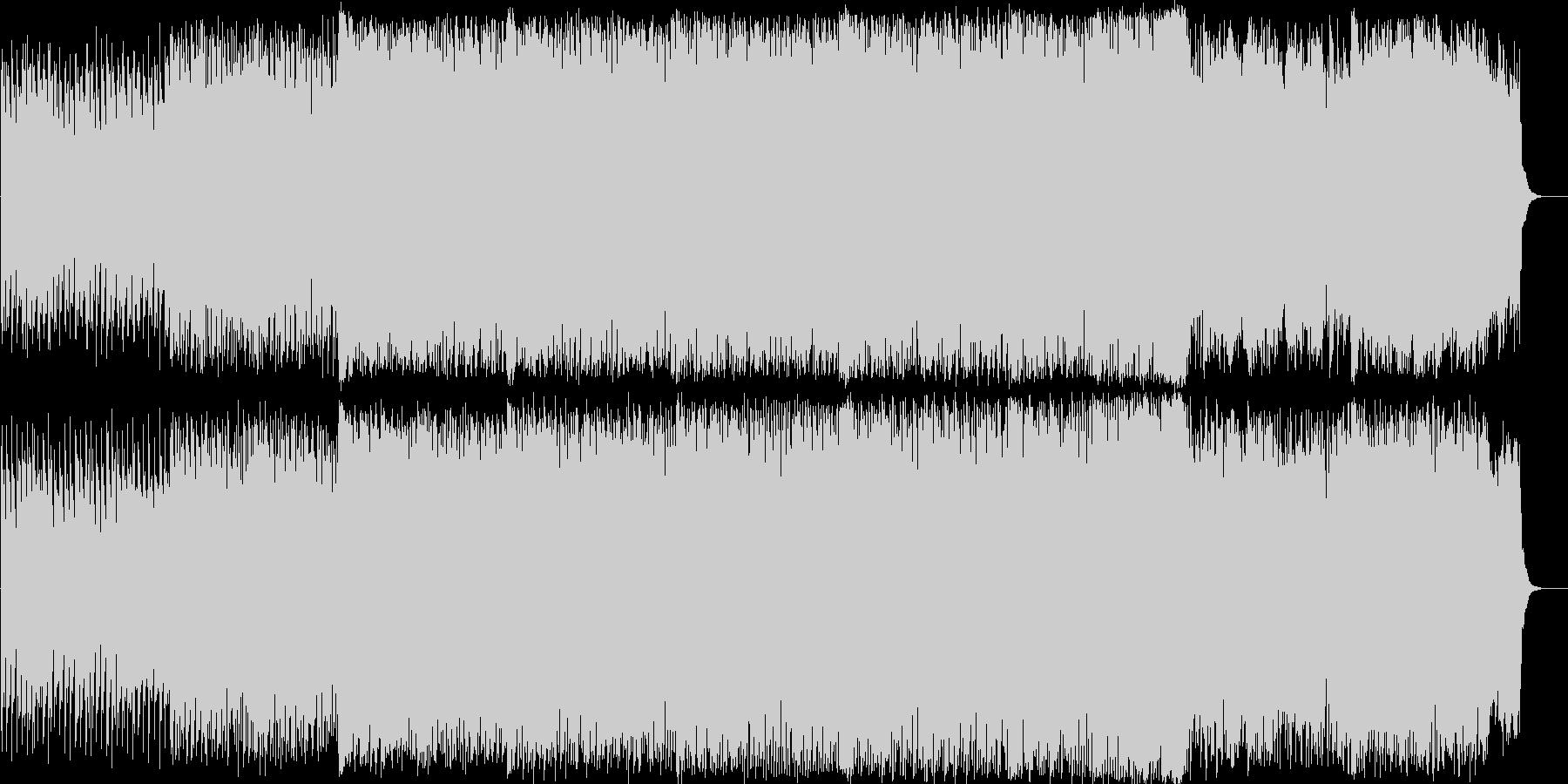エンディングなどのBGMにの未再生の波形