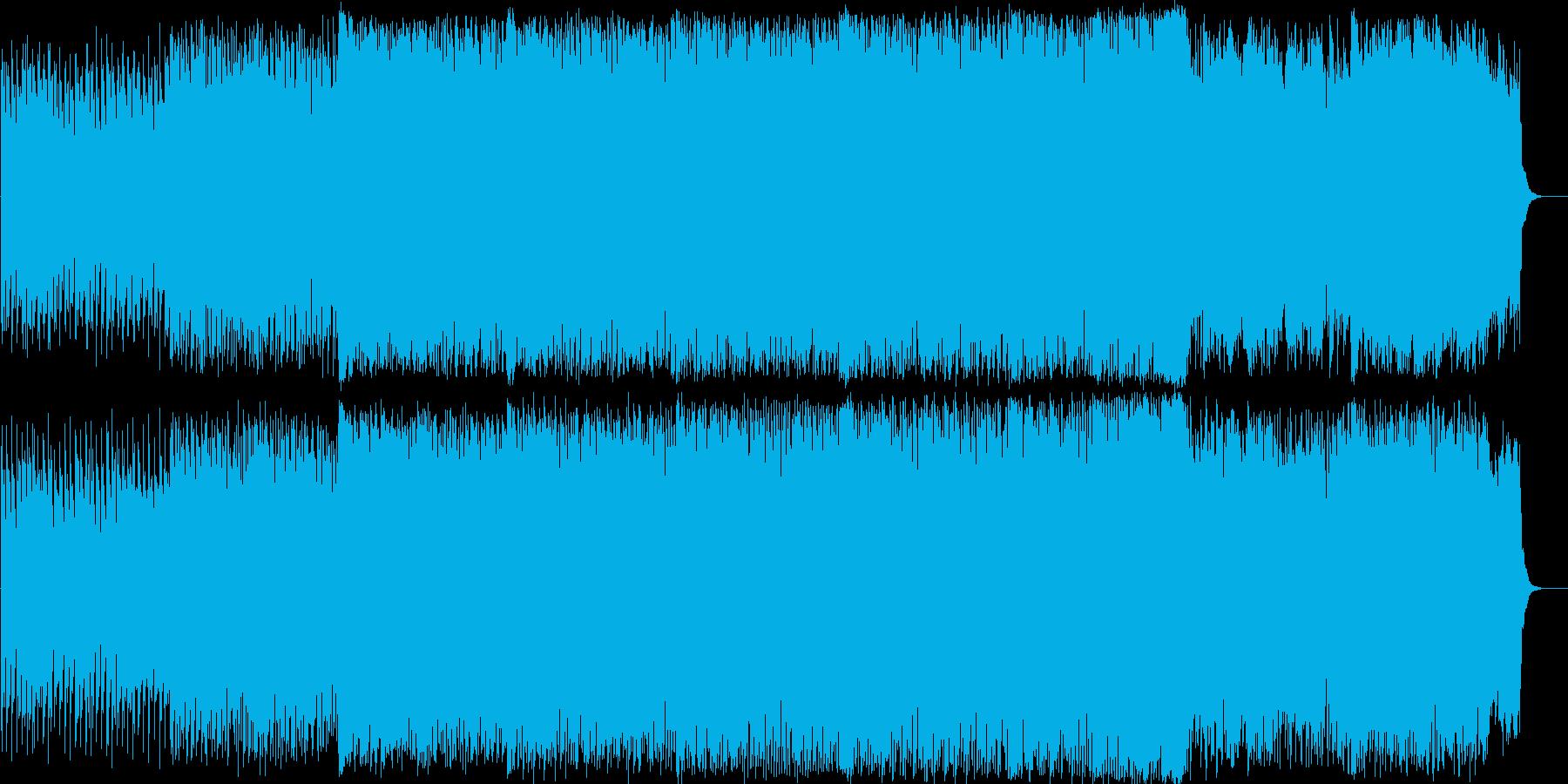 エンディングなどのBGMにの再生済みの波形