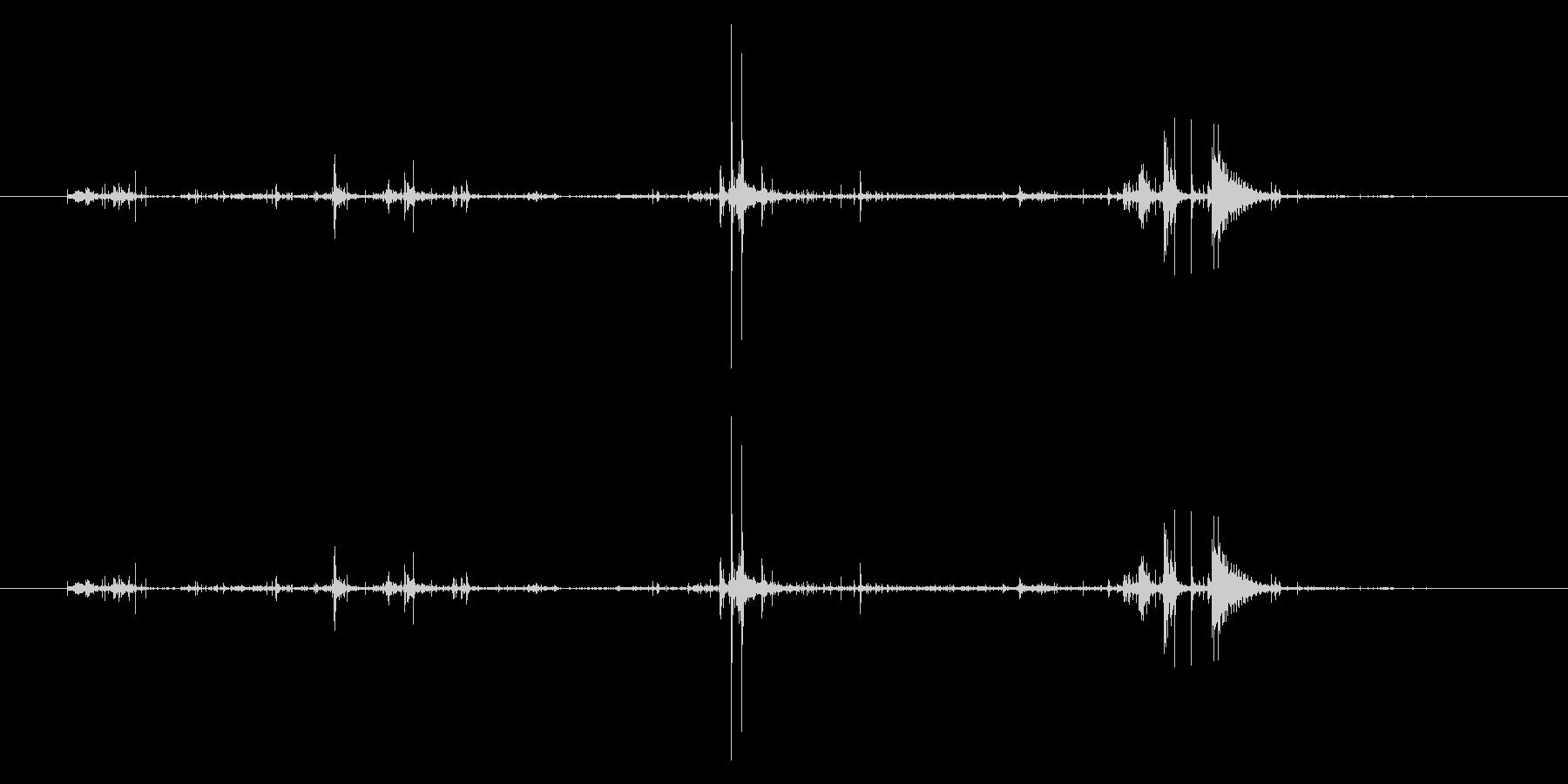 ベリッ/開封/ラップ包装の未再生の波形