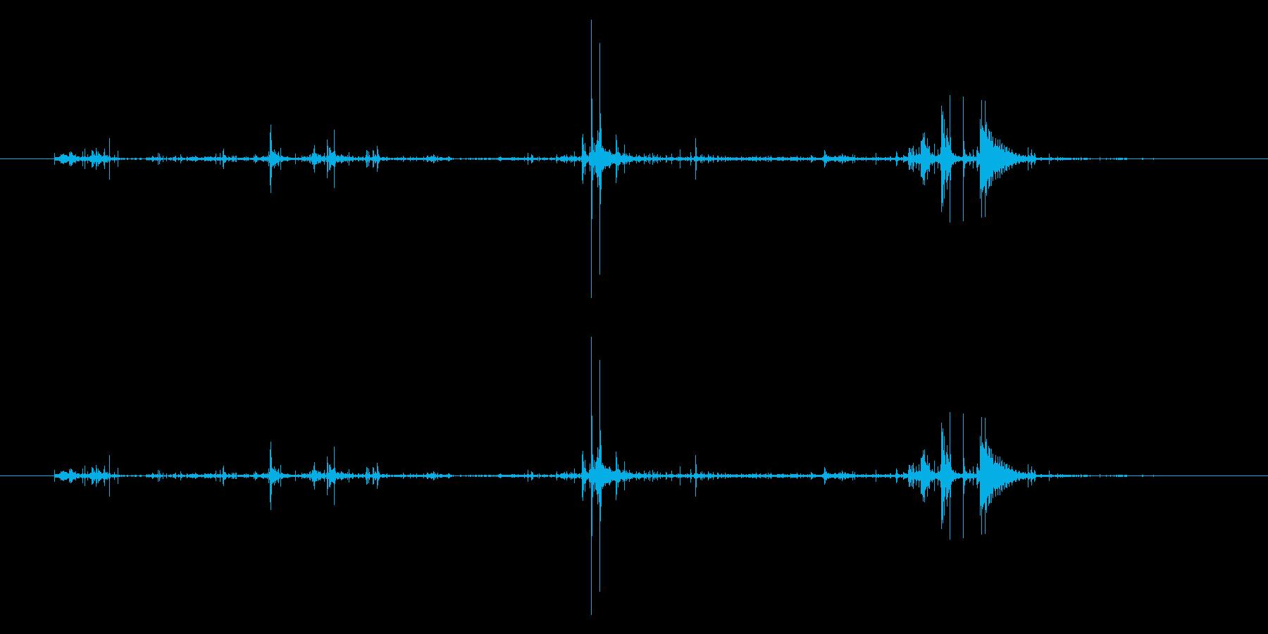 ベリッ/開封/ラップ包装の再生済みの波形
