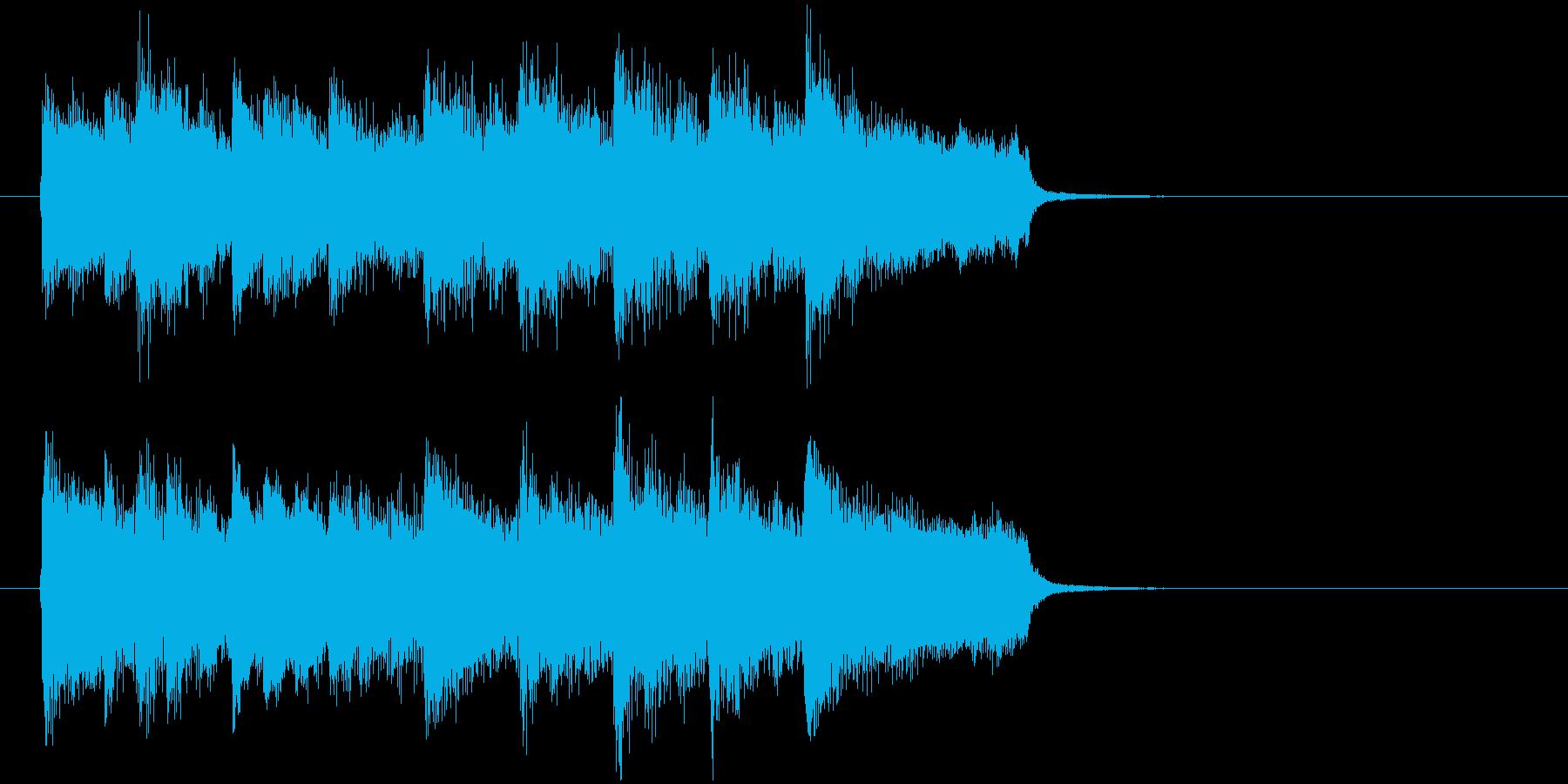 神秘的な森の中のようなBGM_ループ用4の再生済みの波形